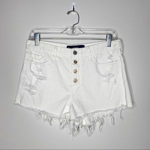 Hollister High Rise Distressed Cut Off Jean Shorts
